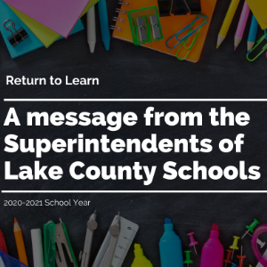 Superintendents of Lake County Message