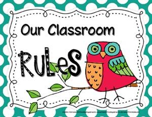 First Grade - Ms. Gonzales / Classroom Rules